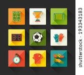 soccer  football  icon set in... | Shutterstock .eps vector #193343183