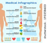flat medical infographics with... | Shutterstock .eps vector #193358603