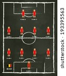 belgium football club line up... | Shutterstock .eps vector #193395563