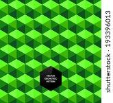 abstract vector trendy green 3d ... | Shutterstock .eps vector #193396013