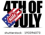 fourth of july sale icon eps 10 ... | Shutterstock .eps vector #193396073