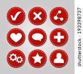 set of vector badges icons for... | Shutterstock .eps vector #193398737