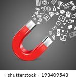 magnet   business icons concept | Shutterstock .eps vector #193409543