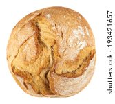 round loaf of bread isolated...   Shutterstock . vector #193421657
