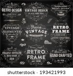 vintage frames and scroll... | Shutterstock .eps vector #193421993