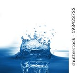 water splash isolated on white   Shutterstock . vector #193423733