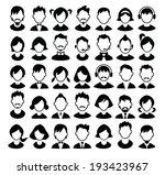 set of boys and girls avatars... | Shutterstock .eps vector #193423967