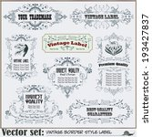 border style labels on... | Shutterstock .eps vector #193427837