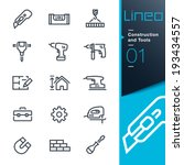 lineo   construction and tools... | Shutterstock .eps vector #193434557