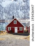 nordic architecture. house | Shutterstock . vector #193436447