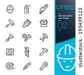 lineo   construction and tools... | Shutterstock .eps vector #193439123