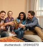 group of young friends with... | Shutterstock . vector #193441073
