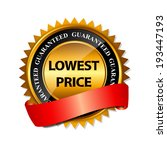 lowest price guarantee gold... | Shutterstock .eps vector #193447193