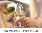 drinks with glasses of wine... | Shutterstock . vector #193454063