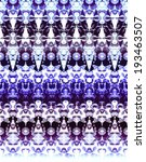 Abstract Border Print In Blue.