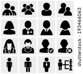 people icons set on gray  | Shutterstock .eps vector #193466063