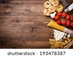italian food background on... | Shutterstock . vector #193478387