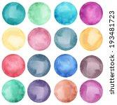 watercolor circles collection ... | Shutterstock . vector #193481723