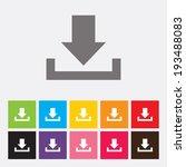 download icon   vector   Shutterstock .eps vector #193488083