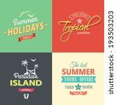 beach colorful labels set eps8 | Shutterstock .eps vector #193503203