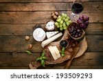 cheese variety. food background.... | Shutterstock . vector #193509293
