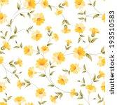 Elegant Flowers Fabric ...