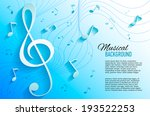 paper background with music... | Shutterstock .eps vector #193522253