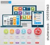 flat ui design. responsive web...