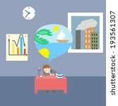 dreaming  clerk | Shutterstock .eps vector #193561307