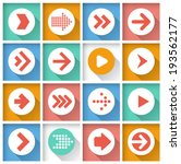 arrow icon set. vector. | Shutterstock .eps vector #193562177