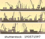 set vector horizontal banners... | Shutterstock .eps vector #193571597