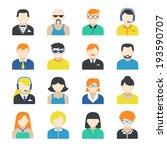 avatar pictograms social... | Shutterstock . vector #193590707