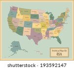 usa highly detailed map.all... | Shutterstock .eps vector #193592147