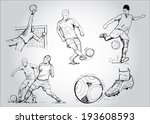 football   soccer. collection... | Shutterstock .eps vector #193608593