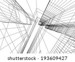 abstract architecture | Shutterstock .eps vector #193609427