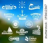 vintage summer voyage amazing... | Shutterstock .eps vector #193612367
