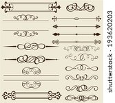 set of design elements is on... | Shutterstock .eps vector #193620203