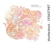 abstract tribal ethnic... | Shutterstock .eps vector #193637987