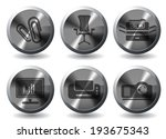 business simple vector icons | Shutterstock .eps vector #193675343