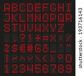 font dot led display red | Shutterstock .eps vector #193716143