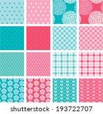 set of fabric textures in pink... | Shutterstock .eps vector #193722707