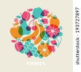vector fruits. healthy... | Shutterstock .eps vector #193727897