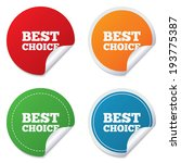 best choice sign icon. special... | Shutterstock . vector #193775387