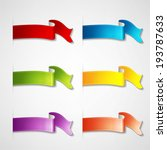 colorful ribbons set | Shutterstock .eps vector #193787633