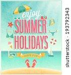 publicité,créative,emblème,heureux,manchette,lettrage,paradis,affiche,sunny,maillot de bain,tour,tropical,typographique,vacances