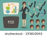 young women  teacher  business... | Shutterstock .eps vector #193810043