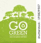 go green eco tree recycling... | Shutterstock .eps vector #193829507