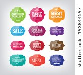 vector set of vintage glossy... | Shutterstock .eps vector #193844597