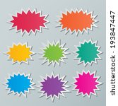 set of blank colorful paper... | Shutterstock .eps vector #193847447