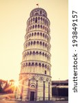 Pisa Leaning Tower At Sunrise ...